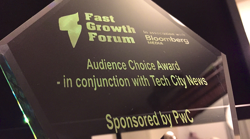Who won the Audience Choice award at the Fast Growth Forum?