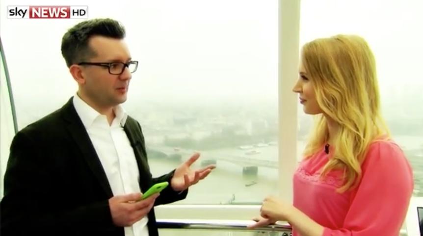 Rich Wilson interviewed on Sky News Swipe by Gemma Morris