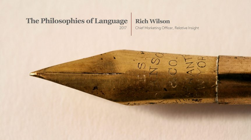 New White Paper: Philosophies of Language 2017