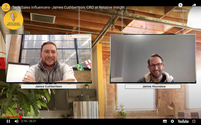 James Cuthbertson meets…Tech Sales Influencers